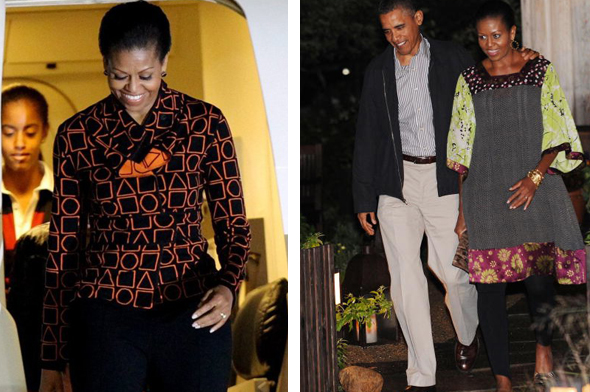 MICHELLE OBAMA IN DURO OLOWU DESIGN