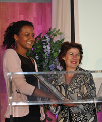 At the launch of the inaugural WIE Africa (which stands for Women, Inspiration and Enterprise) last month, Isis Nyong'o (left) was recognised for being one of Africa's women leaders who is positively shaping the future of the continent.