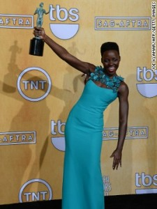 LUPITA NYONG'O WINS SAG AWARDS
